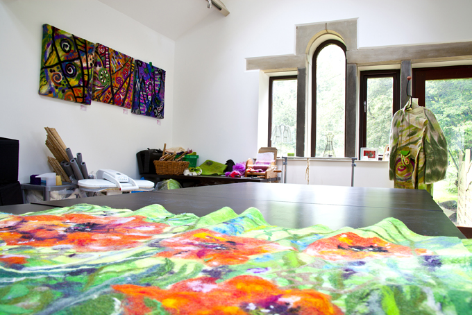 The interior of Mytholmbridge Art Studio in Holmfirth